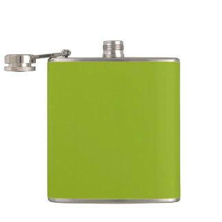 Sickly Green color Hip Flasks