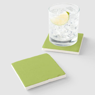 Sickly Green color Stone Coaster