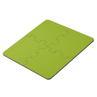 Sickly Green color Puzzle Coaster