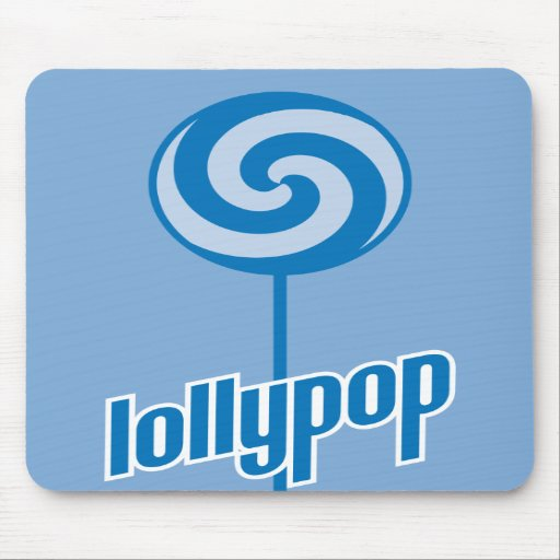 sickly sweet blue lollypop mousepads