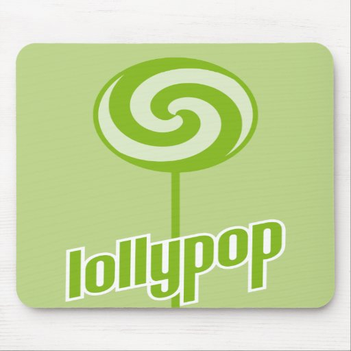 sickly sweet green lollypop mouse pads