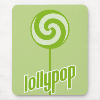 sickly sweet green lollypop mouse pad