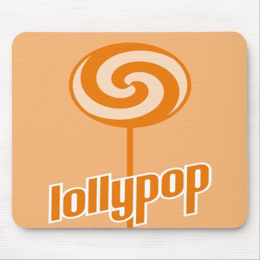 sickly sweet orange lollypop mousepads