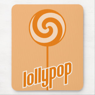 sickly sweet orange lollypop mouse pad