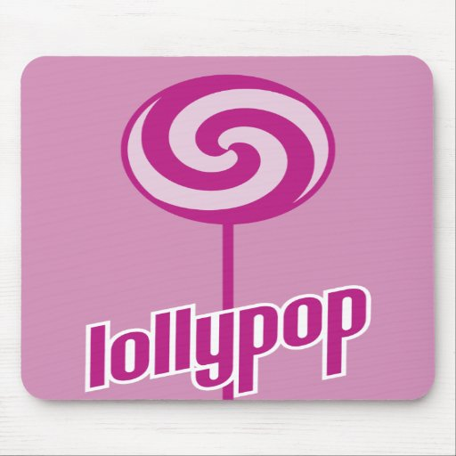 sickly sweet pink lollypop mousepads