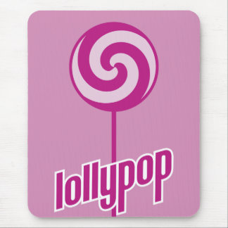 sickly sweet pink lollypop mouse pad