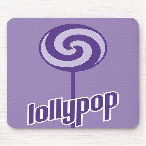 sickly sweet purple lollypop mousepads