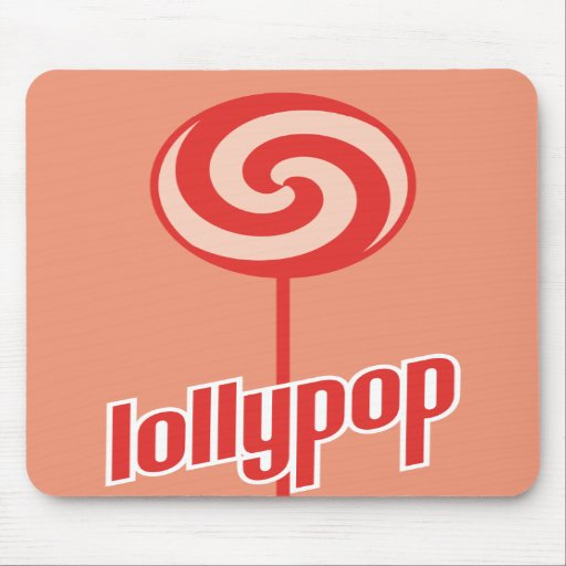 sickly sweet red lollypop mouse pad