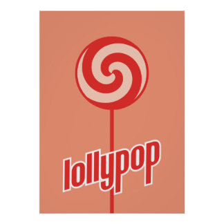 sickly sweet red lollypop posters