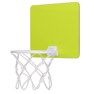 Sickly Yellow colored Mini Basketball Hoop