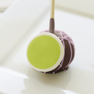 Sickly Yellow colored Cake Pops