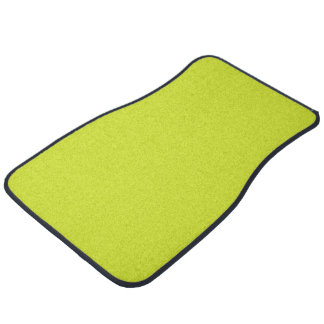 Sickly Yellow colored Floor Mat