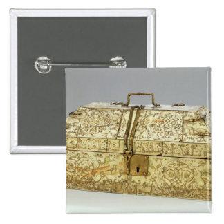 Siculo Arabic casket with animals Pinback Button