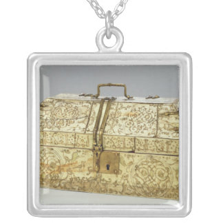 Siculo Arabic casket with animals Silver Plated Necklace