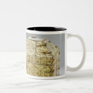 Siculo Arabic casket with animals Two-Tone Coffee Mug