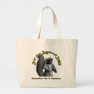 """Sid"" Attitude Geocaching Swag Bag! Large Tote Bag"