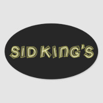 sid king's club oval sticker