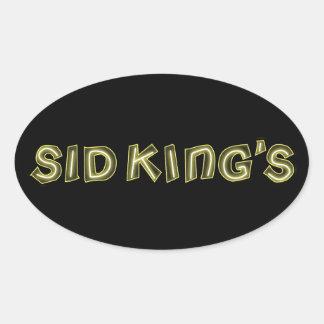 sid king's club oval sticker