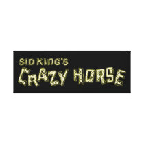 sid king's crazy horse canvas print