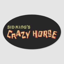 sid king's crazy horse oval sticker