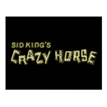 sid king's crazy horse postcard
