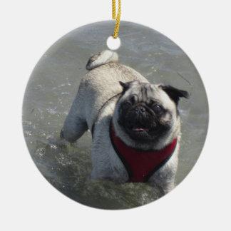 Sid la foto de la playa del barro amasado - Sid el Ornamento Para Arbol De Navidad