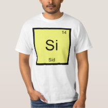 Sid Name Chemistry Element Periodic Table T-Shirt