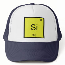 Sid Name Chemistry Element Periodic Table Trucker Hat