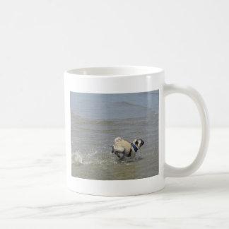 Sid the Pug at the Beach Classic White Coffee Mug