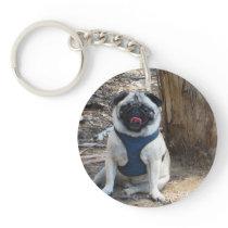 Sid the Pug Gifts and Tees Keychain