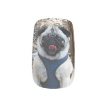 Sid the Pug Gifts and Tees Minx Nail Wraps