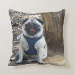Sid the Pug Gifts and Tees Throw Pillows