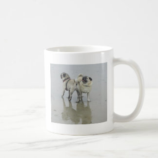Sid the Puggy at the Beach Classic White Coffee Mug