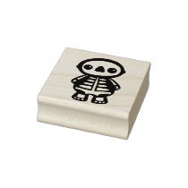 Sid the Skeleton rubber stamp