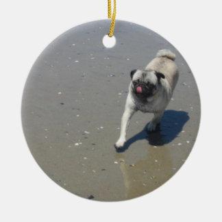Sid y Hemi en las tarjetas de la playa, pegatinas, Ornamento De Navidad