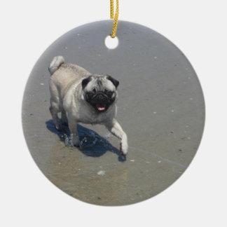 Sid y Hemi en las tarjetas de la playa, pegatinas, Adorno De Navidad