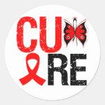 SIDA de la curación Pegatinas Redondas