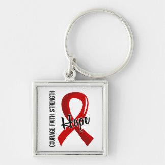 SIDA de la esperanza 5 de la fe del valor Llavero Personalizado