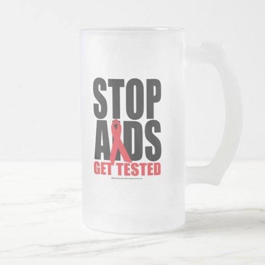 SIDA de la parada: Consiga probado Jarra De Cerveza Esmerilada