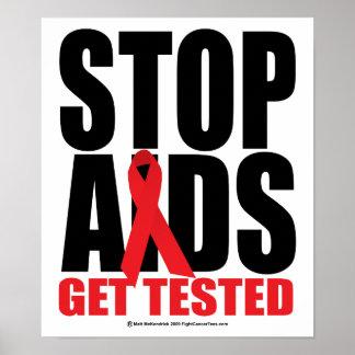SIDA de la parada: Consiga probado Impresiones