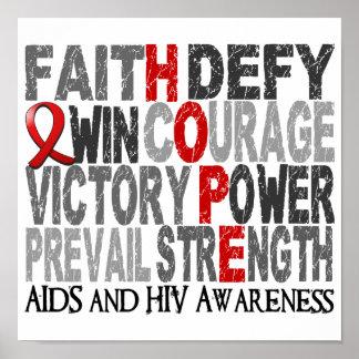 SIDA del collage de la palabra de la esperanza Poster
