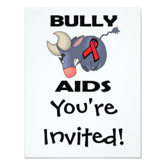 SIDA del matón Invitación 10,8 X 13,9 Cm