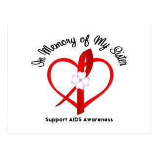 SIDA en memoria de mi hermana Postal