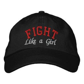 SIDA - lucha como un chica Gorras De Béisbol Bordadas