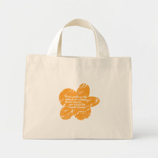 Siddharta Quote on a Flower Mini Tote Bag