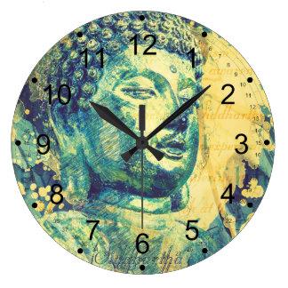 Siddhartha Buddha Large Clock