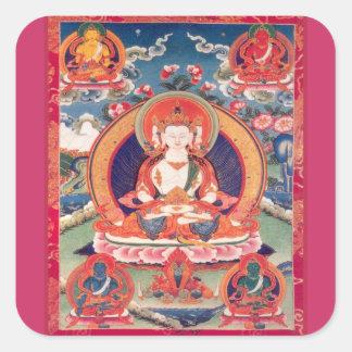 Siddhārtha Gautama Buddha Square Sticker