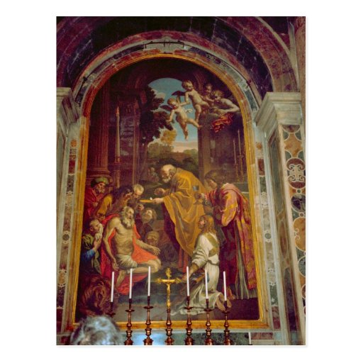 Side altar in St Peter's Basilica Post Card