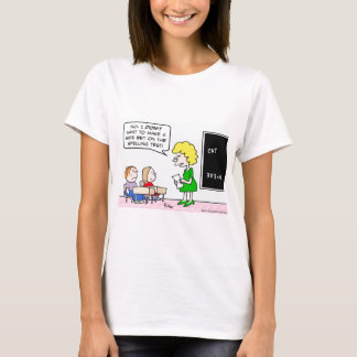 side bet spelling test school teacher T-Shirt