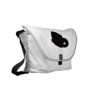 Side butterfly shape with moth pic courier bag